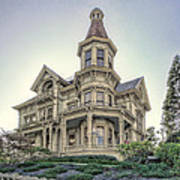 Captain George Flavel Victorian House - Astoria Oregon Print by Daniel Hagerman