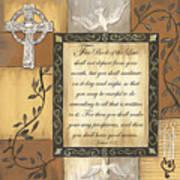 Caramel Scripture Print by Debbie DeWitt