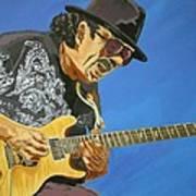 Carlos Santana-magical Musica Print by Bill Manson