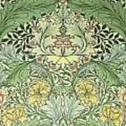 Carnations Design Print by William Morris