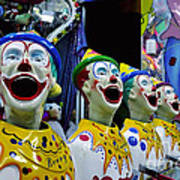Carnival Clowns Print by Kaye Menner