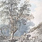 Cart And Horse Print by Joseph Constantine Stadler