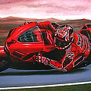 Casey Stoner On Ducati Print by Paul Meijering