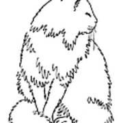 Cat Drawings 1 Print by Gordon Punt