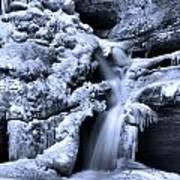 Cedar Falls In Winter Print by Dan Sproul