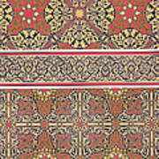 Ceiling Arabesques From The Mosque Of El-bordeyny Print by Emile Prisse d Avennes