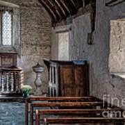 Celynnin Church V2 Print by Adrian Evans