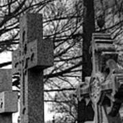 Cemetery Crosses Print by Jennifer Ancker
