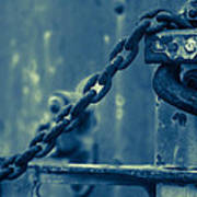 Chained And Moody Print by Toni Hopper