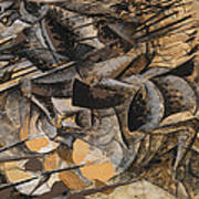 Charge Lancers Print by Umberto Boccioni