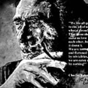 Charles Bukowski Print by Richard Tito
