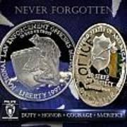 Charlotte Police Memorial Print by Gary Yost