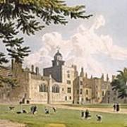 Charter House From The Play Ground Print by William Westall