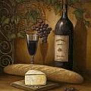 Cheese And Wine Print by John Zaccheo