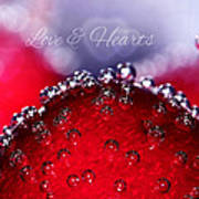 Cherry Fizz Hearts With Love Print by Tracie Kaska