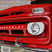 Chevy Beaumont Fire Museum Tx Print by Christine Till