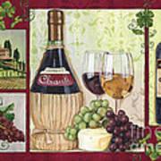 Chianti And Friends 2 Print by Debbie DeWitt