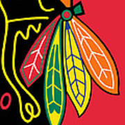 Chicago Blackhawks Print by Tony Rubino