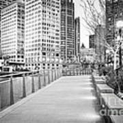 Chicago Downtown City Riverwalk Print by Paul Velgos
