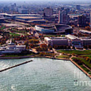 Chicago Museum Park Print by Thomas Woolworth