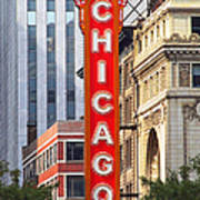 Chicago Theatre - A Classic Chicago Landmark Print by Christine Till