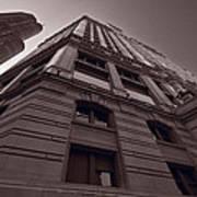 Chicago Towers Bw Print by Steve Gadomski