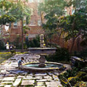Child And Fountain Print by Terry Reynoldson