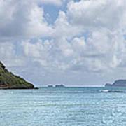 Chinamans Hat Panorama - Oahu Hawaii Print by Brian Harig