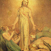 Christ Appearing To The Apostles After The Resurrection Print by William Blake