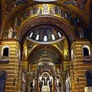 Christ Is Risen - St Louis Basilica Print by Thia Stover
