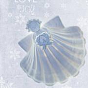 Christmas Angel Print by Rebecca Cozart