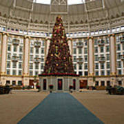 Christmas At West Baden Print by Sandy Keeton