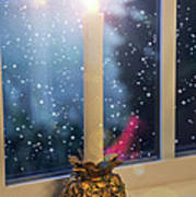Christmas Candle Print by Brian Wallace