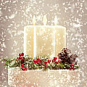 Christmas Candles Print by Amanda And Christopher Elwell