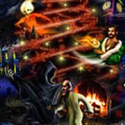 Christmas Greeting Card Print by Alessandro Della Pietra