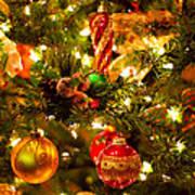 Christmas Tree Background Print by Elena Elisseeva
