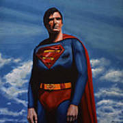 Christopher Reeve As Superman Print by Paul Meijering