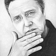 Christopher Walken Print by Olga Shvartsur
