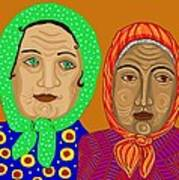 Church Ladies Print by Sarah Loft