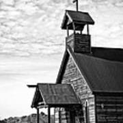 Church On The Mount In Black And White Print by Lee Craig