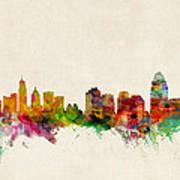 Cincinnati Ohio Skyline Print by Michael Tompsett
