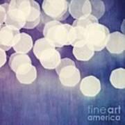 Circles Of Light Print by Priska Wettstein