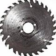 Circular Saw Blade Isolated On White Print by Handmade Pictures