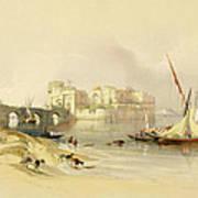 Citadel Of Sidon Print by David Roberts