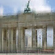 City-art Berlin Brandenburg Gate Print by Melanie Viola