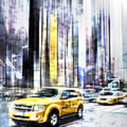 City-art Times Square II Print by Melanie Viola