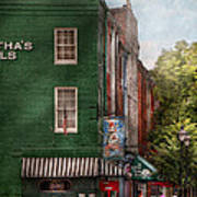 City - Baltimore - Fells Point Md - Bertha's And The Greene Turtle  Print by Mike Savad