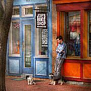 City - Baltimore Md - Waiting By Joe's Bike Shop  Print by Mike Savad