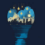 City Lights Print by Neelanjana  Bandyopadhyay