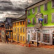 City - Providence Ri - Thomas Street Print by Mike Savad